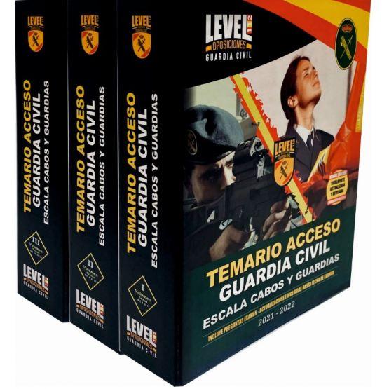 TEMARIO GUARDIA CIVIL 3 TOMOS+3 ARCHIVADORES